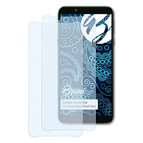Bruni Schutzfolie kompatibel mit Xiaomi Black Shark Helo Folie, glasklare Bildschirmschutzfolie (2X)