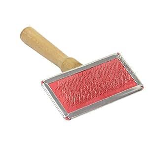 peigne brosse en Acier inoxydable + bois pour Toilettage chien chat pet animaux