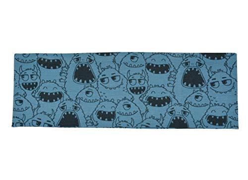 Dünnes Stirnband aus Elastischem Jersey-Stoff für Kinder. Besonders für Frühling und Herbst geeignet. Äusserst Dehnbar. (Kopfumfang ca. 50-56 cm, Monster)
