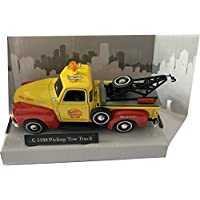 cararama yellow/red C3100 pickup tow truck 1:43 scale diecast model