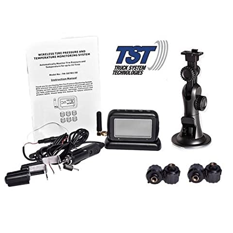 TST 507 Tire Pressure Monitoring System With 4 Cap Sensors by Truck Systems Technology
