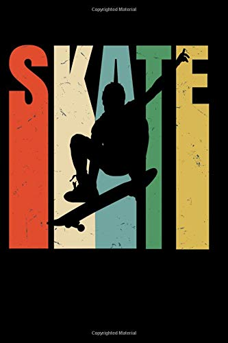 SKATE: cool notebook 6x9 110 page gift for skateboarder -