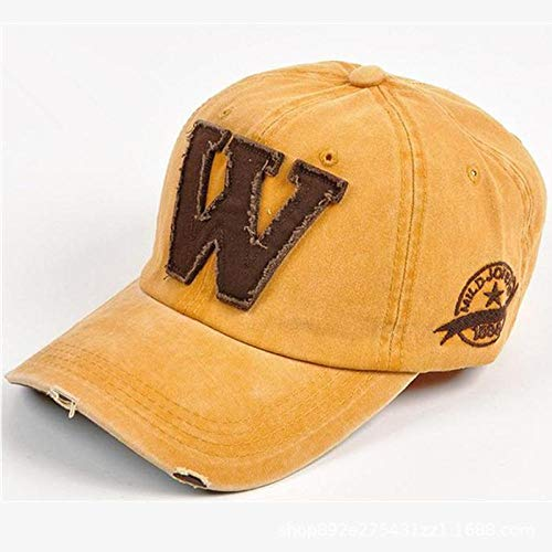 YanLong Sommer Sonnencreme komfortable Persönlichkeit W Brief alte Entenzunge Baseballmütze - Mann W Gelb Hut Kostüm