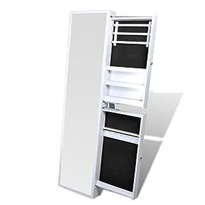 Specchio portagioie con cassetti laterali bianco amazon for Amazon specchi da parete