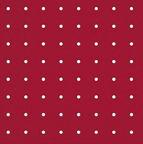 Tifany 8013346 Plumetis Serviette 2 Plis Papier Rouge à Pois Blanc Lot de 50