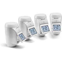 Honeywell Home Tête thermostatique de radiateur pour système evohome, kit de 4 pièces