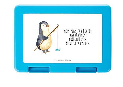 Mr. & Mrs. Panda Brotdose Pinguin Angeler - 100% handmade in Norddeutschland - Pinguin, Pinguine, Angeln, Angler, Tagträume, Hobby, Plan, Planer, Tagesplan, Neustart, Motivation, Geschenk, Freundinnen, Geschenkidee, Urlaub, Wochenende Brotdose, Vesperdose, Frühstücksdose, Schule, Brot, Geschenk, Arbeit, Dose, Frühstück, Essendose, stabil, Kind, Schüler, Schülerin