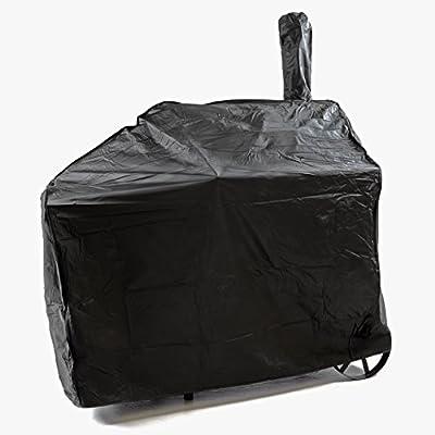 Schutzhülle für Smoker Abdeckung Wetterschutz Plane Cover 120g/PVC schwarz pflegeleicht Haube Grillabdeckung 150x65x135 passend für GZ35612 Hülle wasserdicht