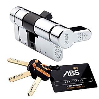 35 (INT) X 35 (EXT) 35/35 Chrome Avocet ABS Quantum Thumb Turn Euro Cylinder Door Lock Barrel Anti Snap High Security 3 Star TS007