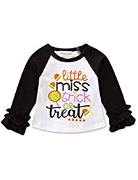 Paisdola Camisetas para niñas Tops de Manga Larga Ropa de Navidad para  Halloween Traje 49017de84cbfa