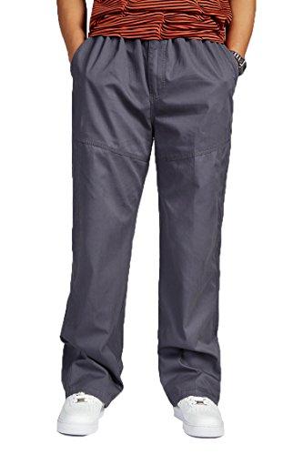 Männlichen Freizeit Fett weite Hosen Mann Plus Größe Baumwolle Hosen Overalls grey L (Größe Plus Ralph Lauren Jeans)