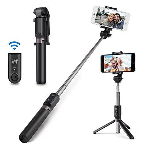 Bastone Selfie Bluetooth, Hongyifa Selfie Stick con Treppiede, Telecomando Shutter, Rotazione a 360°, per 3,5-6 pollici Smartphone iPhone, Samsung, Huawei ect.
