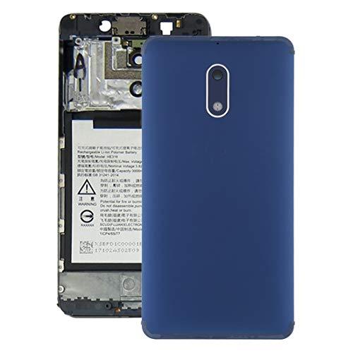 Batterie-rückseitige Abdeckung mit Kameraobjektiv und Seitentasten for Nokia 6 TA-1000 TA-1003 TA-1021 TA-1025 TA-1033 TA-1039 (Gold) (Farbe : Blue)