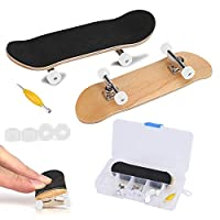 Fingerboard Finger Skateboards, Mini diapasón, Patineta de dedos profesional para Tech Deck Maple Wood DIY Assembly Skate Boarding Toy Juegos de deportes Kids Christmas Gift de Zerodis