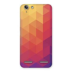Neo World Abstract Triangles Back Case Cover for Vibe K5