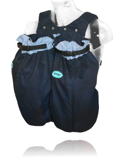 """Preisvergleich Produktbild Weego Babytragesack Modell #325 """"TWIN Blue Pepita"""", speziell für Zwillinge ab einem Gewicht von 1600g"""