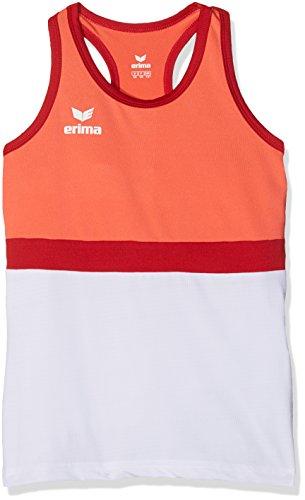 Erima Mädchen Masters Tank Top - Koralle hot Coral/Weiß, 152 - Mädchen Tennis Shirt