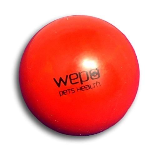 WEPO® Hundespielzeug/Hundeball - Kauspielzeug mit Zahnpflege-Funktion - Robuster Naturkautschuk Ball - Hundespiel-Ball - Hundespielzeug Wepo