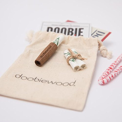 doobiewood®   spliff holder made from American Walnut   adaptor for 9 mm charcoal filters (Joint Halter)