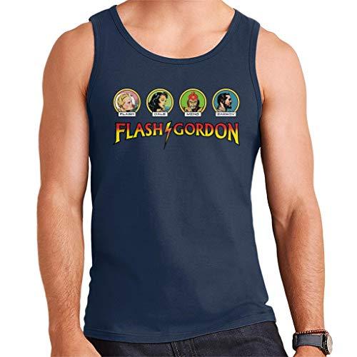 Flash Gordon Comic Character Heads Men's - Flash Gordon Kostüm Für Erwachsene