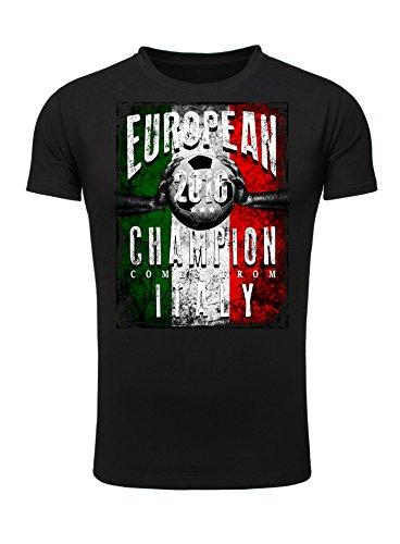 Legendary Items T-Shirt EUROPEAN CHAMPION 2016 Italien Printshirt Europameister EM Fußball Trikot Schwarz