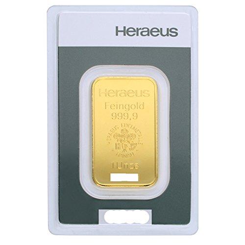 Heraeus Kinebar 1oz Unze Goldbarren 999.9