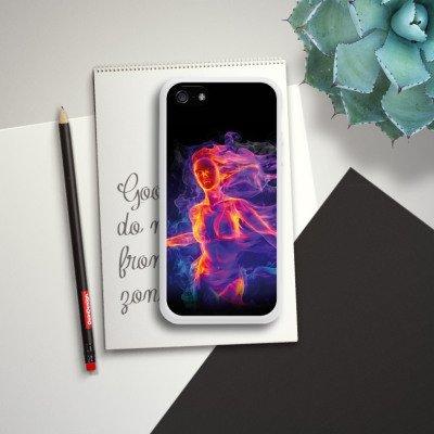 Apple iPhone 4 Housse Étui Silicone Coque Protection Feu Feu Femme Housse en silicone blanc