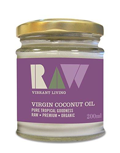 Raw Vibrant Living Bio Kokosnussöl 200 ml 6er Pack (6 x 200 ml) -