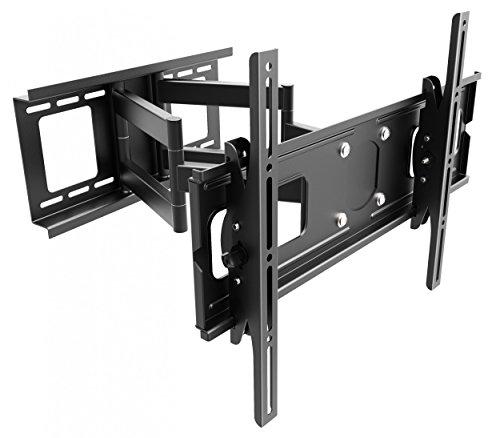 RICOO TV Wandhalterung R06 Universal für 40-75 Zoll (ca. 102-191cm) Schwenkbar Neigbar | Wand Halter Aufhängung Fernseh Halterung auch für Curved LCD & LED Fernseher | VESA 300x100 600x400 | Schwarz 40 Zoll Bravia Lcd-hdtv