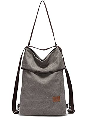 Myhozee Women Shoulder Bag Backpack-Canvas Handbag Tote Shopping Top Handle Bags for Work School Travel