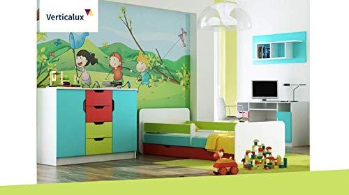 VERTICALUX KINDERMÖBEL SET Un Conjunto de 4Juego de Muebles Infantiles–Winnie The Pooh 6con Cama. CREA un Habitaciones de Träumen para su Hijo