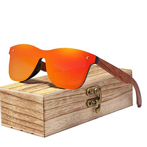 Zbertx Randlose Polarisierte Holz Sonnenbrille Männer Quadratischen Rahmen Uv400 Sonnenbrille Frauen Sonnenbrille Männlich,rot