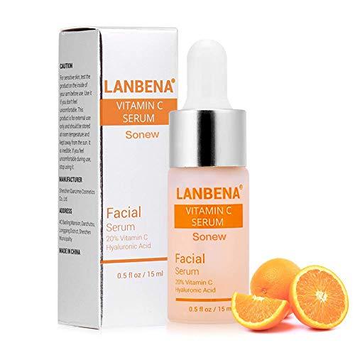Vitamina c siero per viso con acido ialuronico rimuovi rughe moisturizie sbiancante essenza per la cura della pelle potente vitamina c