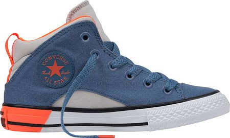 Converse Boys Chuck Taylor All Star Mid Lace Up Sneaker Soar/Black/White Blue Coast/ Mouse / White