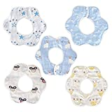 Voarge VOARGE 6 teilige Baby Lätzchen Weiches Wasserdicht, 360 drehbare Baby lätzchen für Jungen und Mädchen, 100% Bio-Baumwolle, saugfähig, laktierend, wasserdicht und saugfähig (Junge)