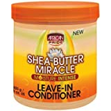 African Pride Shea Butter Miracle Leave-In Conditioner 15oz Jar (6 Pack) by African Pride