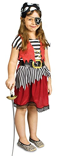 Y KLEID +GÜRTEL, Größe:98-104 (Kinder Pirat Kostüme)