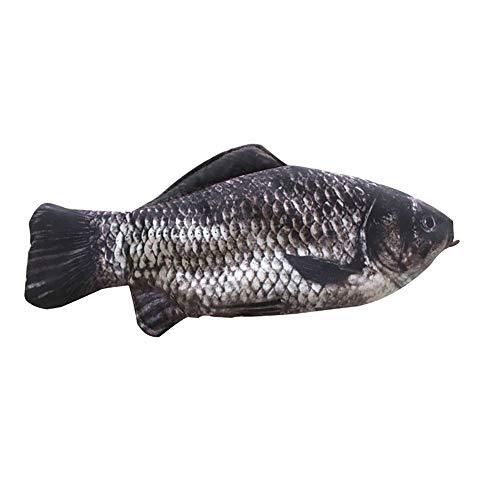 1 Stücke 3D Fisch Reißverschluss Federmäppchen Tasche Make-up Halter Aufbewahrungstasche Stift Schreibwaren Schulbedarf Lustiges Geschenk, Schwarz