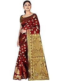 Dealsure Women's Banarasi Pure Silk Saree With Blouse Piece (DS-S8613-05_Multicolor)