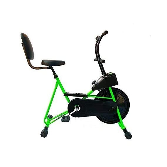 GYMALLY Exercise Cycle with Back Support| Fix Handle Gym Bike for Home Use| Deluxe Design of Fitness| Lifeline for Cardio Work Out| Weight Loss Cross fit Equipment| Stamina BGA 201 Exercise Bike