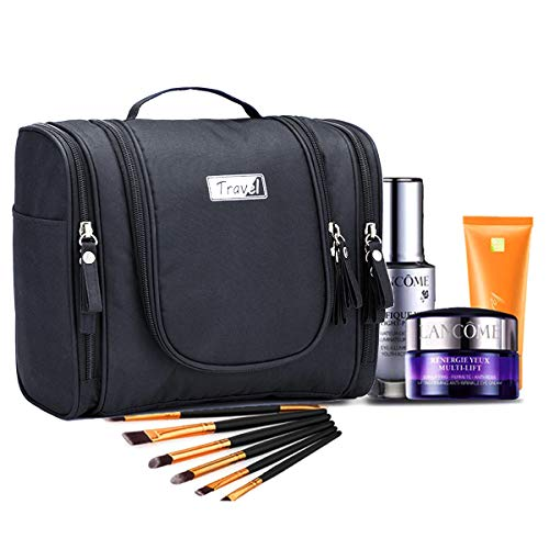 Beauty Case da Viaggio, Borsa da Toilette per Donna Uomo, impermeabile Trousse Make Up Viaggio Con Gancio