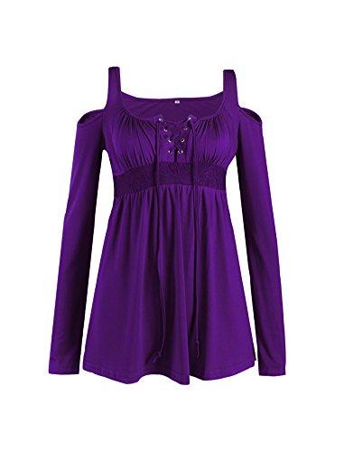 U8Vision - T-shirt de sport - Tunique - Femme Violet