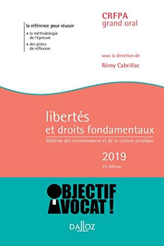 Libertés et droits fondamentaux 2019. Maîtrise des connaissances et de la culture juridique - 25e é par  Rémy Cabrillac