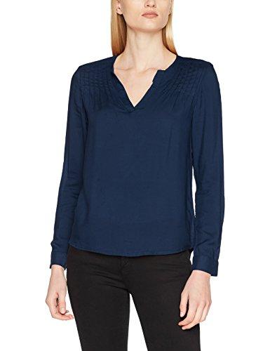 Q/S Designed by Damen Bluse 41709118312, Blau (Blueprint 5699), 38