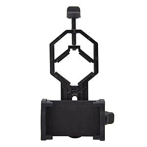 Adaptateur de téléphone portable Plat, longue-vue téléphone portable adaptateur support de fixation pour lunette de visée, Camera, digiscopie jumelle, télescope, microscope, Monoculaire