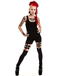 07e55f8333655 Vixxsin Punk Temptation Sexy Long Leggings Skinny Stretch Two Part Straps  Gothic