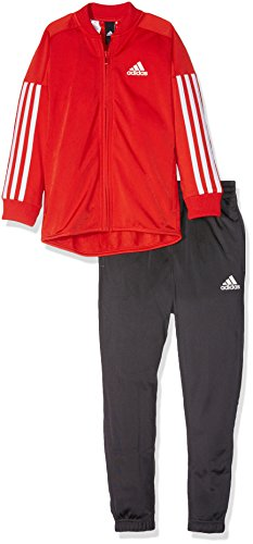 adidas Kinder YB Iconic Trainingsanzug, Top:Core Red/White Bottom:Utility Black, 140