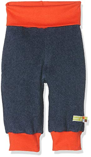 loud + proud Baby-Unisex Fleece Hose, Blau (Midnight Mi), 80 Baby Fleece-hose