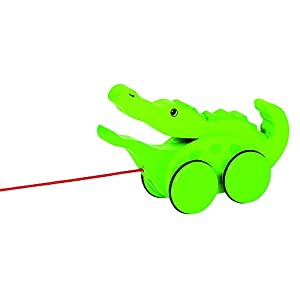 Goki 54952 Juguete de Arrastre - Juguetes de Arrastre (Verde, Madera, 1 Mes(es), Niño, Niño/niña, Cocodrilo)