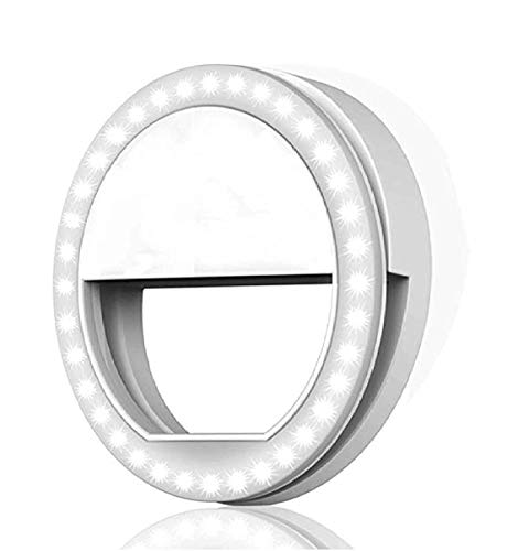 Teconica BR-01 Rechargeable Selfie Enhancing Portable Ring Light with Three Modes and Thirty Six LED for Making Like and TIK-Tok Videos in Dark Compatible with All Devices - Assorted Colour